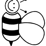 דף צביעה דבורה 5