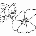 דף צביעה דבורה 4