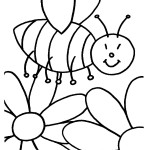 דף צביעה דבורה 1