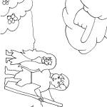 דף צביעה אלוהים מזהיר את אדם וחווה