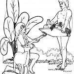 דף צביעה אדם מגיש פירות לחווה