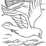 דף צביעה היונה עפה מתיבת נוח