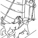 דף צביעה דניאל בגוב האריות