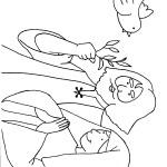 דף צביעה נוח שולח את היונה