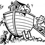דף צביעה נוח, התיבה ובעלי החיים
