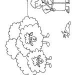 דף צביעה דוד הקטן רועה כבשים