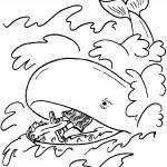 דף צביעה הלוויתן בולע את יונה הנביא