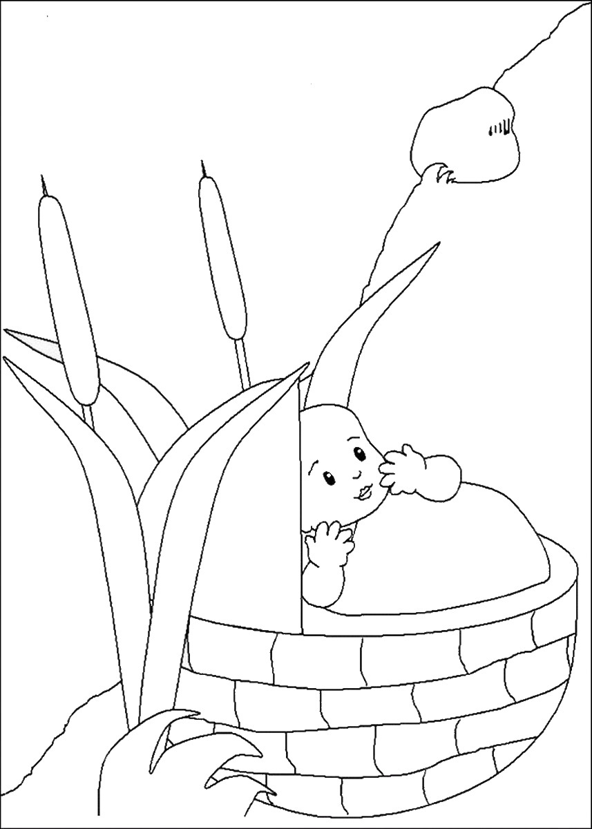 moses in bulrushes coloring pages - photo#3