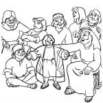 דף צביעה יוסף וכתונת הפסים