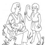 דף צביעה דוד רועה צאן