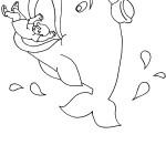 דף צביעה יונה בפיו של הלוויתן