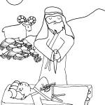 דף צביעה עקדת יצחק