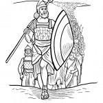 דף צביעה בני ישראל חוצים את הים