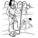 דף צביעה עבודת פרך במצריים