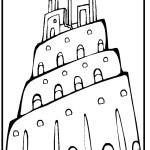 דף צביעה מגדל בבל