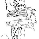 דף צביעה רועי צאן