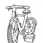 דף צביעה אופני ילדים 7