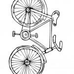 דף צביעה אופניים 2