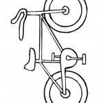 דף צביעה אופני ילדים 6