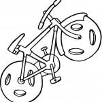 דף צביעה אופני ילדים 5