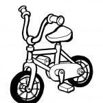 דף צביעה אופני ילדים 4
