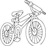 דף צביעה אופני ילדים 2