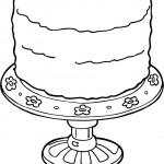 דף צביעה עוגת יום הולדת 10