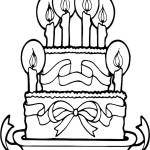 דף צביעה עוגת יום הולדת 9