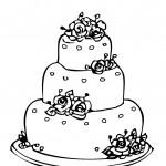 דף צביעה עוגת יום הולדת 4