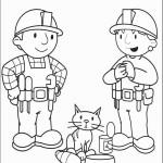 דף צביעה בוב הבנאי, חברו והחתול טילצ'ארד