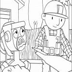 דף צביעה בוב הבנאי ומערבל הבטון דיזי