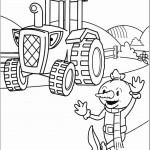 דף צביעה הדחליל ספוד והטרקטור טרביס