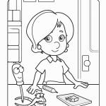 דף צביעה וונדי מציירת בית