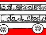לחצו על דפי הצביעה של אוטובוסים להגדלה ולהדפסה