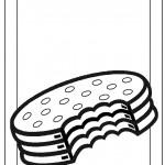 דף צביעה עוגיה במילוי שוקולד