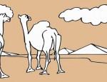 לחצו על דפי הצביעה של גמלים להגדלה ולהדפסה