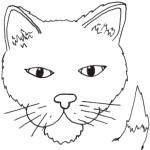 דף צביעה חתול 3