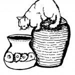 דף צביעה חתול 2