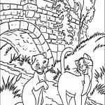 דף צביעה פגישת חתולים מתחת לגשר