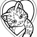 דף צביעה ציור לאוהבי חתולים