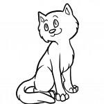 דף צביעה חתול 6