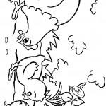 דף צביעה תרנגול ואפרוחים מלקטים