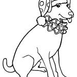 דף צביעה כלב מוכן להופעה בקרקס