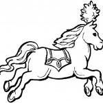 דף צביעה סוס מופיע בקרקס