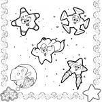 דף צביעה הכוכבים של דורה