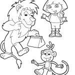 דף צביעה דורה, בוטס והאריה