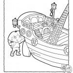 דף צביעה דורה וספינת השודדים