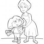 דף צביעה דורה ואמה