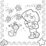 דף צביעה דורה, בוטס והכוכבים
