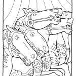 דף צביעה סוסים בקרקס